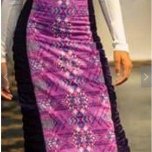 CHIMU Skirts - Ankara Pencil Skirt With Crushed Velvet Sides